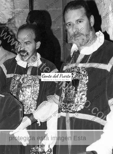 Camacho y José Mari, de maceros.