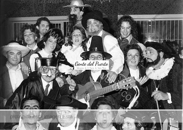 La Compacorogota, en el Carnaval de 1985