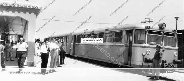 La Estación de Ferrocarril 26.06.1962. Foto Rasero. (Archivo Municipal)