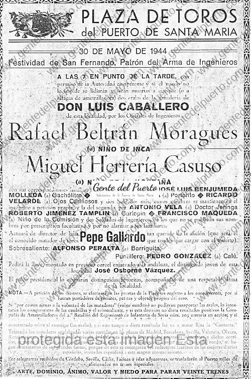 cartel_toros_1944_puertosantamaria