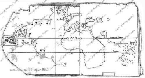 Map_Juan_de_la_Cosa_outline_Davies_1976