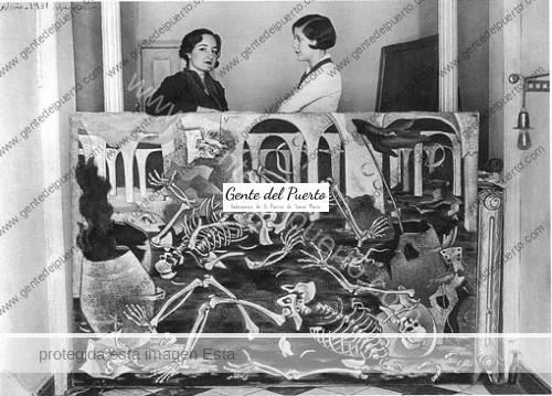 Maruja-Mallo-y-Josefina-Carabias-con-Antro-de-fósiles,-Madrid,-1931