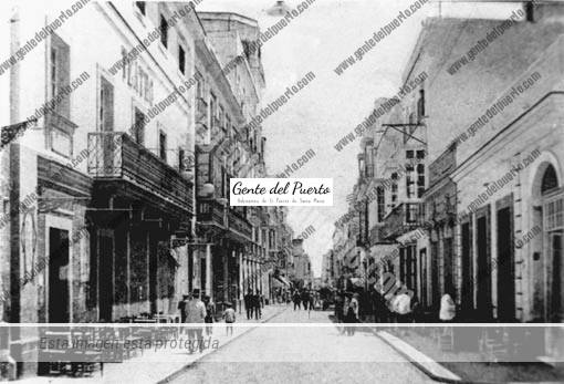 Canovas-del-Castillo-(Teatro-Principal-y-en-frente-''Las-Columnas''-(1930)(sepia)