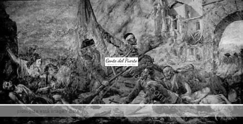 Defensa del Santuario, cuadro de Enrique Ochoa