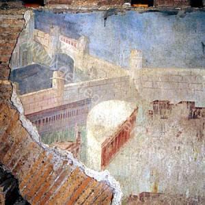 La-supuesta-Gades-embellecida-por--Balbo--en-una--pintura-de-las-termas-de-Trajano-en-Roma