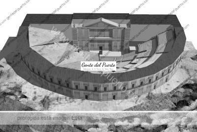 Reconstrucción del teatro romano de Gades