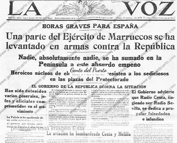 2.876. La resistencia al golpe militar franquista en El Puerto. Hace 80 años.
