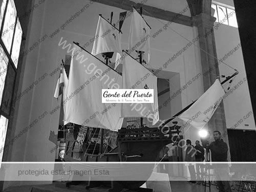3.056. Ramón, Alfonso y José. Internos de Puerto III elaboran una réplica de la Nao Victoria