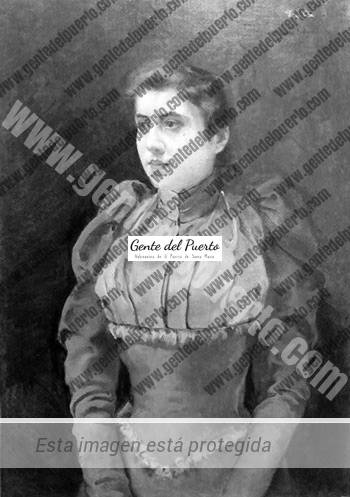 3.102. Dama sobre fondo rojo. Eulogio Varela en la pieza del mes en el Museo Municipal.