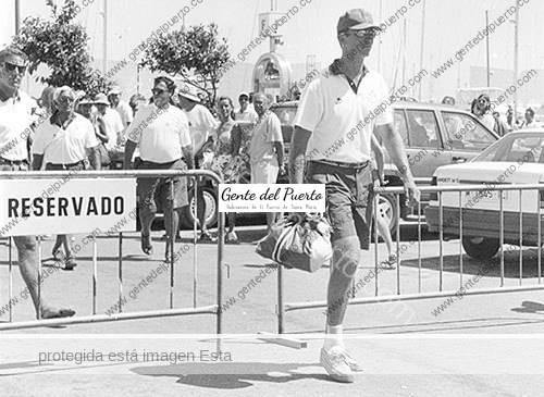 3.103. El Rey de España, hace 25 años, en El Puerto participando en Mundo Vela'92.