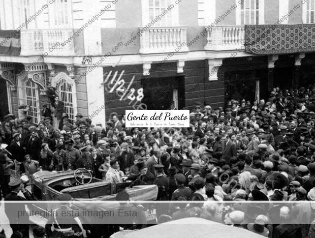 3.107. Miguel Primo de Rivera y Orbaneja. Visita a El Puerto.