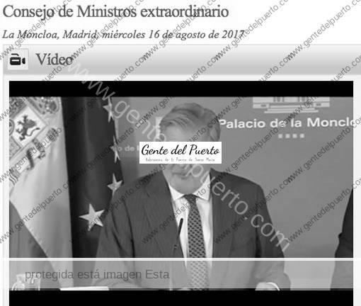 3.247. Iñigo Méndez de Vigo. El ministro portavoz del gobierno de España recomienda El Puerto.