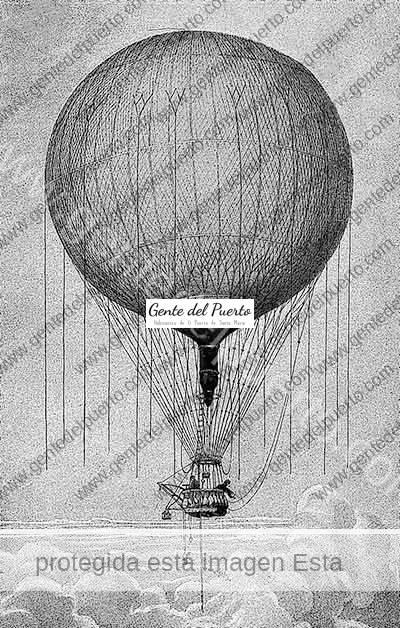 3.427. Manuel García Rozo. El primer español que subió el globo y su ascensión en El Puerto. 1832.