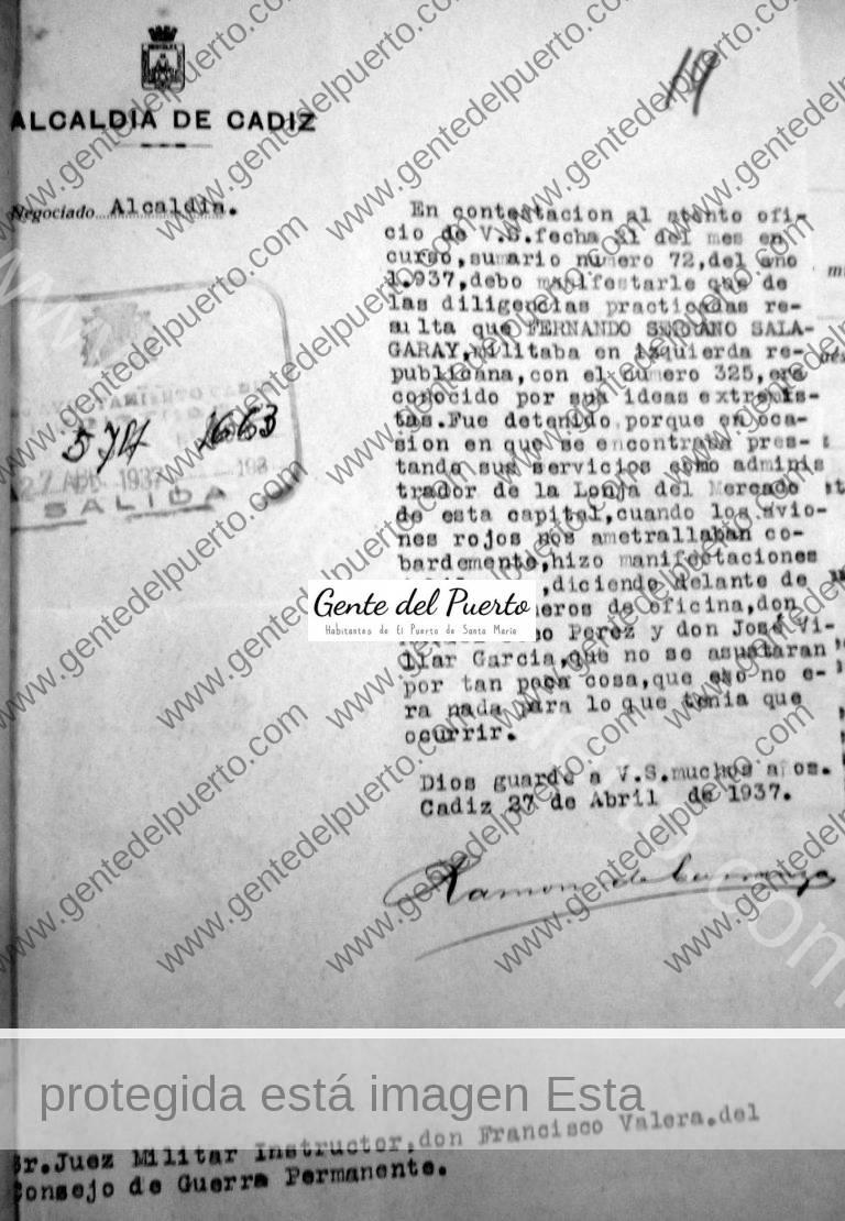 3.458. Fernando Serrano Salagaray. Antiguo alumno de los Jesuitas, depurado por Carranza.
