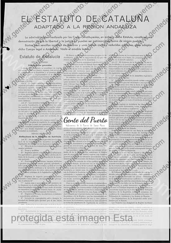 3.539. Mariano López Muñoz. El Estatuto de Cataluña adaptado a la Región Andaluza. 1932