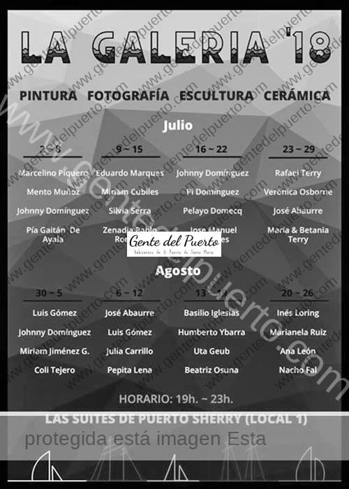3.660. La Galería 18. Exposiciones semanales en las Suites de Puerto Sherry