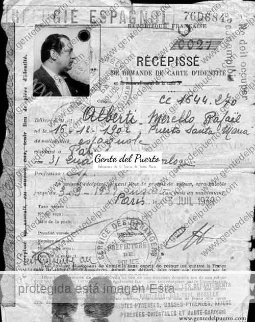 3.677. Alberti, refugiado en París
