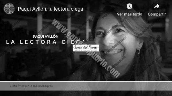 3.841. Paqui Ayllón es la lectora ciega. Un video de El Mundo