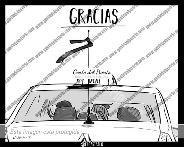 3.860. La Viñeta de @ELDESCOSIDO. Taxis y lazos morados