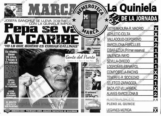 3.862. Josefa Sánchez Sevillano. Hace 22 años fue portada del MARCA