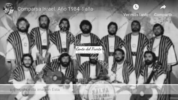 3.904. Comparsa Israel. Gran 'cajonazo' en el Teatro Falla. 1984