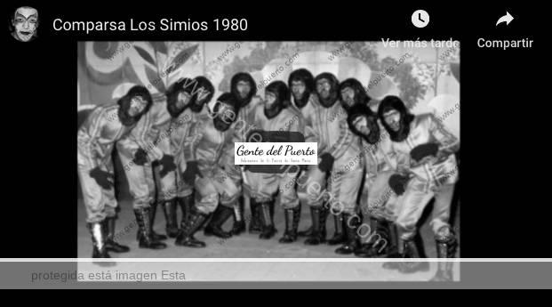 3.903. Los Simios. 1º Premio Provincial de Comparsas en Cádiz. 1980