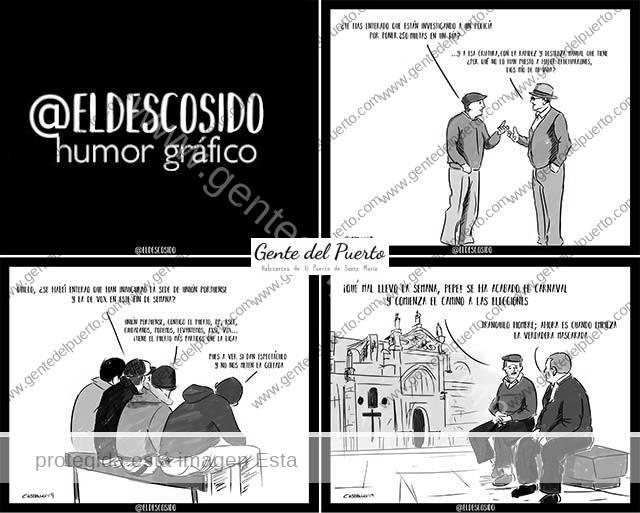 3.914. Las viñetas de @ELDESCOSIDO. El agente de las 250 multas, la inauguración de VOX y Unión Portuense y la transición entre el Carnaval y las Elecciones