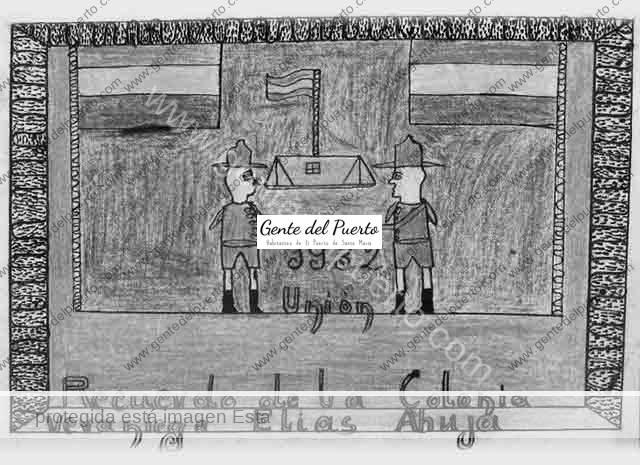 4.021. Colonia Escolar en El Puerto desde Villaluenga del Rosario. 1932