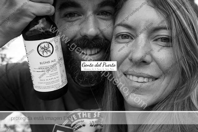 4.029. Clara García de la Infanta y Quique de Guindos Padellano. Cerveza de 'La Portuense' aromatizada con salicornia