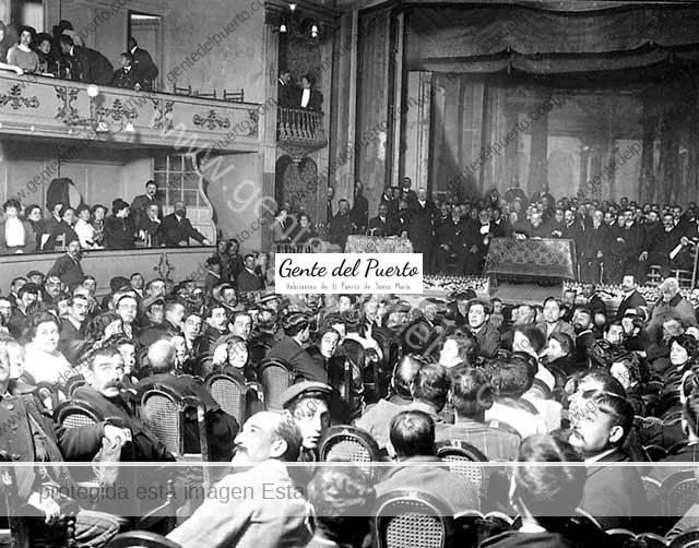 4.032. La Ley del Candado. Mitin en el Teatro Principal en 1910