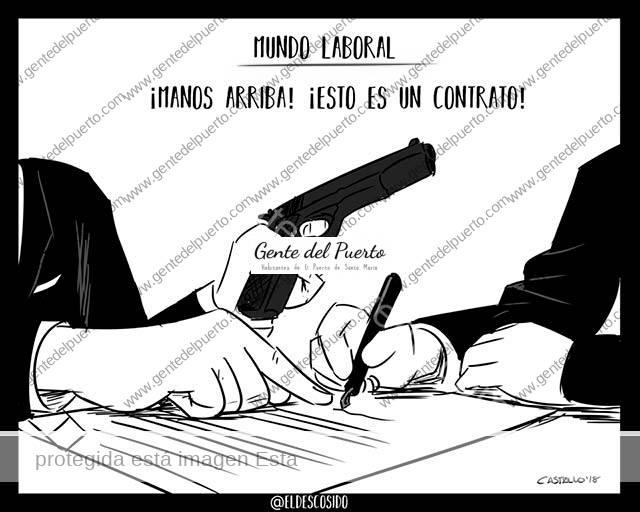 4.082. La viñeta de @ELDESCOSIDO. Contratos de trabajo
