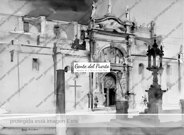 4.087. Alberto Rafael de Burgos Martínez. Acuarelas sobre El Puerto