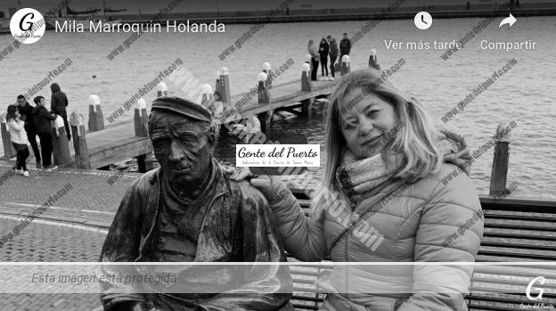 4.219. Mila Marroquin, desde Volendam (Holanda). Portuenses viajeros por el mundo (6)