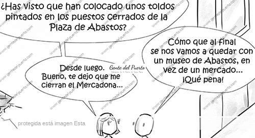 4.243. La viñeta de @elDescosido. Toldos en el Mercado