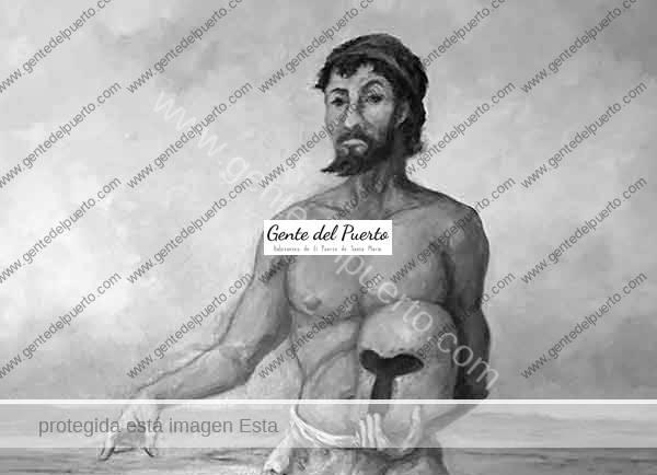 4.253. Menesteo. Óleo de Ángel Pantoja del Puerto