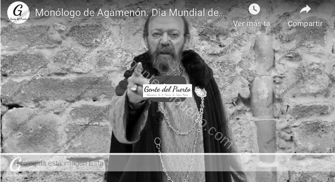 4.294. Manolo Morillo. Día Mundial del Teatro 2020. Breve monólogo de Agamenón
