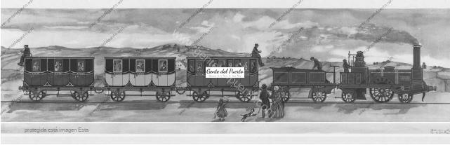 4.373. La primera gran concesión para construir 'Caminos de Hierro' en la península. Línea Jerez-El Puerto-Rota-Sanlúcar, en 1830