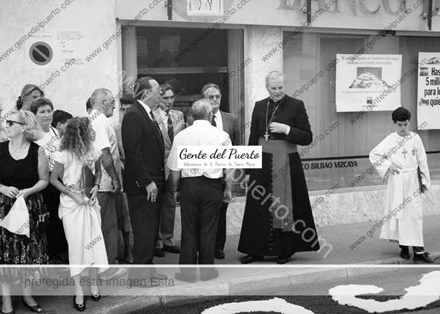 4.498. El cardenal Carlos Amigo Vallejo, de visita en El Puerto en 1991