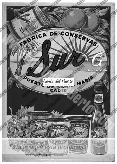 4.533. Cartel publicitario de Conservas Sur. Museo del Traje