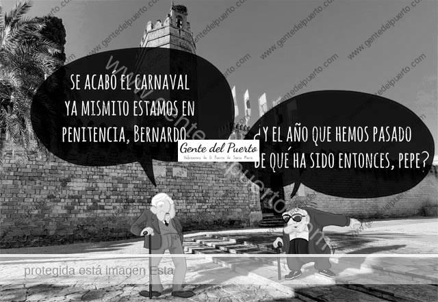 4.625. La viñeta de Alberto Castrelo. Penitencia, entre el Carnaval y la Cuaresma