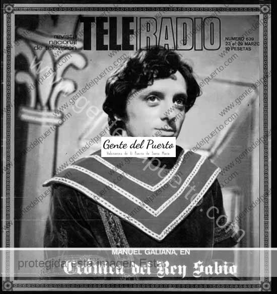 4.744. Manuel Galiana, interpretaba en TVE a un joven Alfonso X el Sabio en 1970