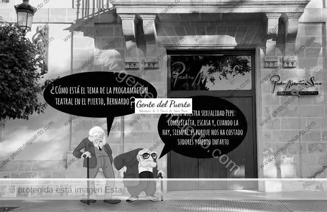 4.770. La viñeta de Alberto Castrelo. Teatro en El Puerto: una tragedia con demasiados actos