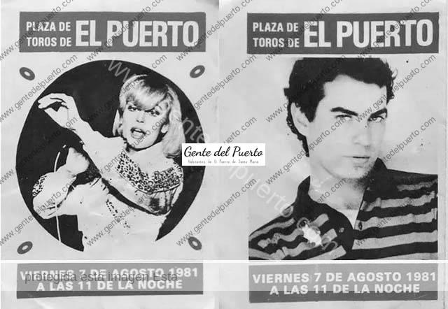 4.769. Rafaella Carrá. Su actuación en El Puerto en 1981