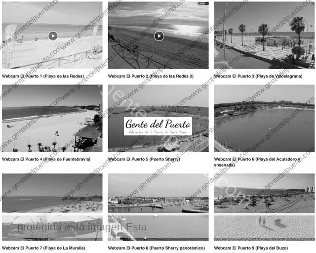 4.792. El litoral portuense en directo. Cámaras en acción
