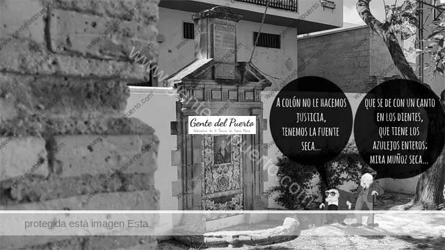 4.834. La viñeta de Alberto Castrelo. La fuente de Colón y el monumento a Muñoz Seca