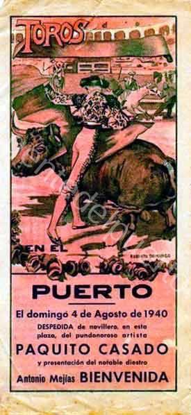 4.831. Novillada con Miguel del Pino, en 1940